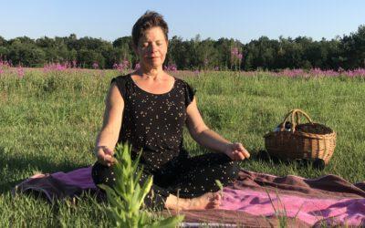 Unwinding en meditatie in het open veld